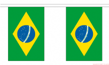 BRAZIL BUNTING - 3 METRES 10 FLAGS